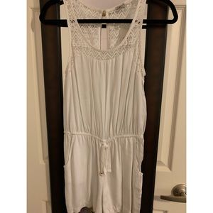 Guess White lace romper